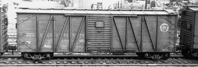 Steam Era Freight Cars PRR X26 Box Cars