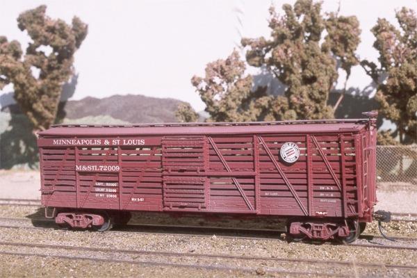 Steam Era Freight Cars Models Stock Cars M Amp St L 72009
